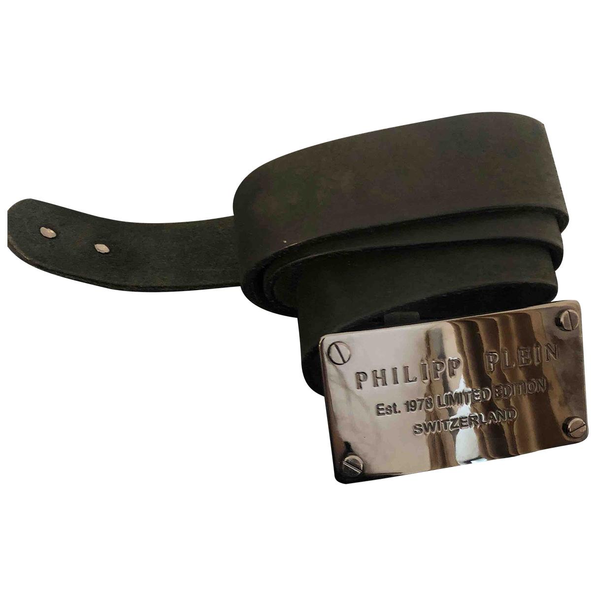 Philipp Plein \N Guertel in  Schwarz Leder