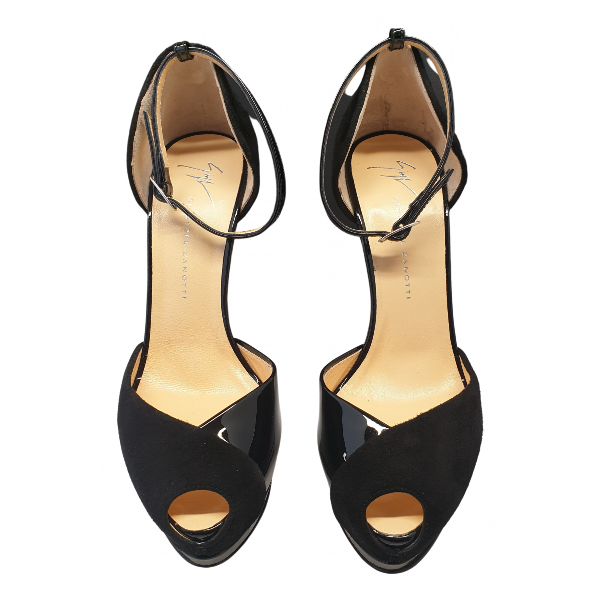 Giuseppe Zanotti N Black Leather Sandals for Women 37 EU