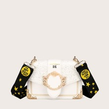 Glitter Detail Bag With Star Print Strap