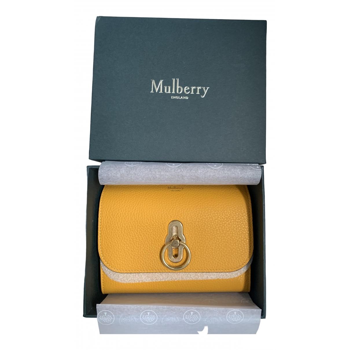 Mulberry - Petite maroquinerie   pour femme en cuir - jaune