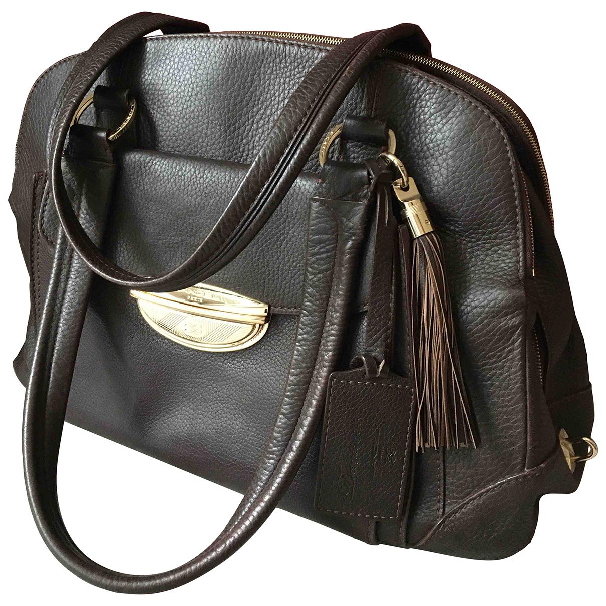 Lancel Adjani Brown Leather handbag for Women N