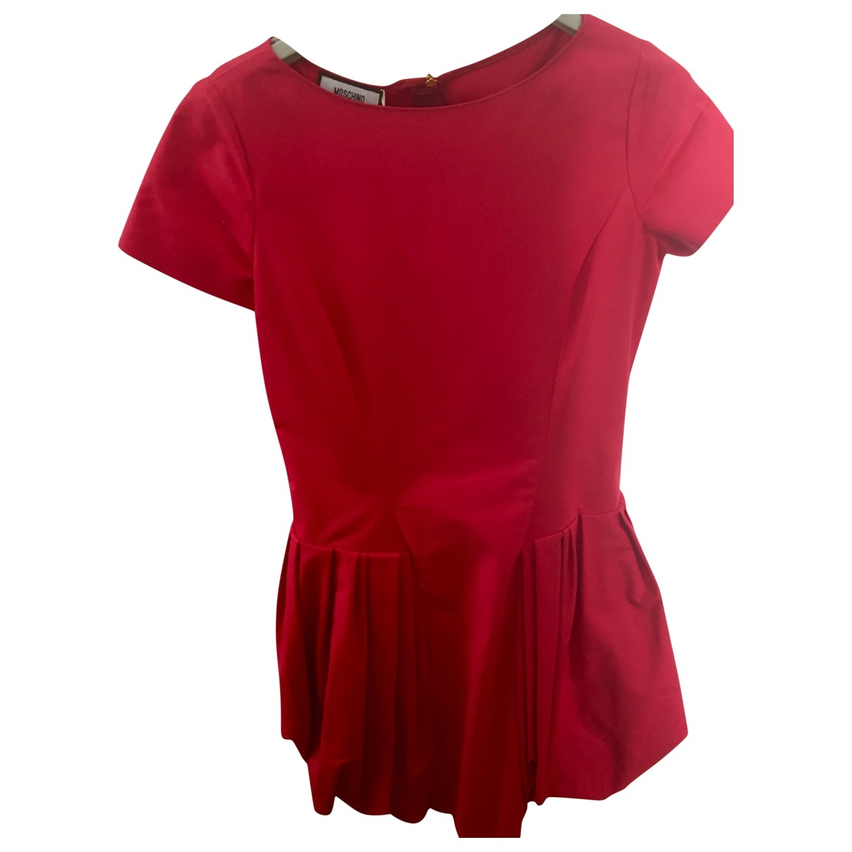 Moschino \N Red Cotton dress for Women 42 IT