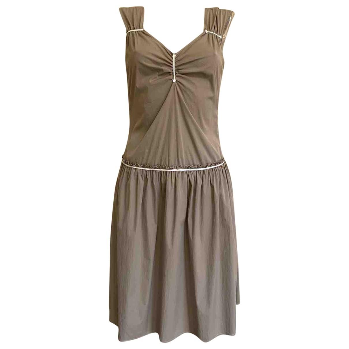 Jil Sander \N Kleid in  Beige Baumwolle