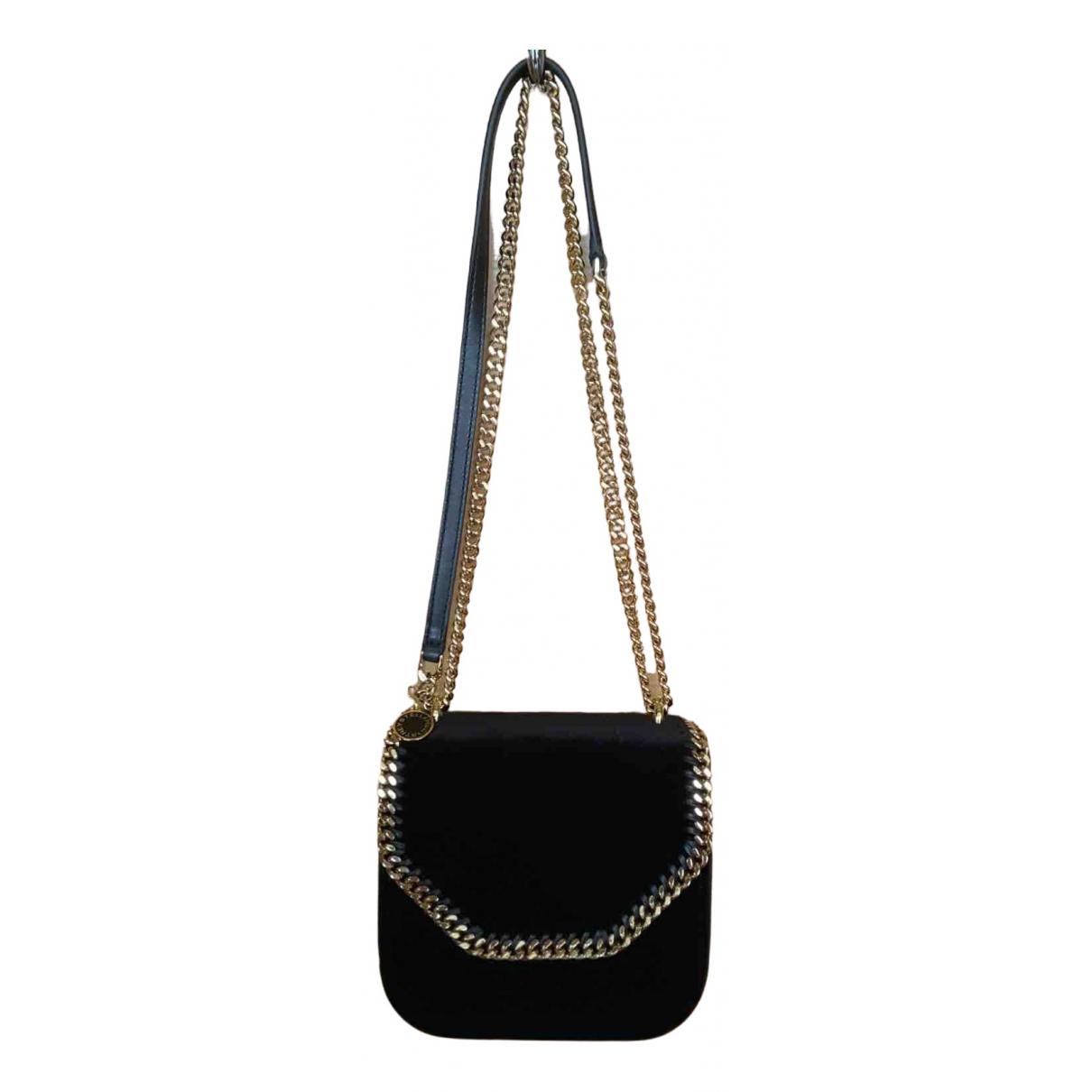 Stella Mccartney Falabella Box Handtasche in  Schwarz Samt