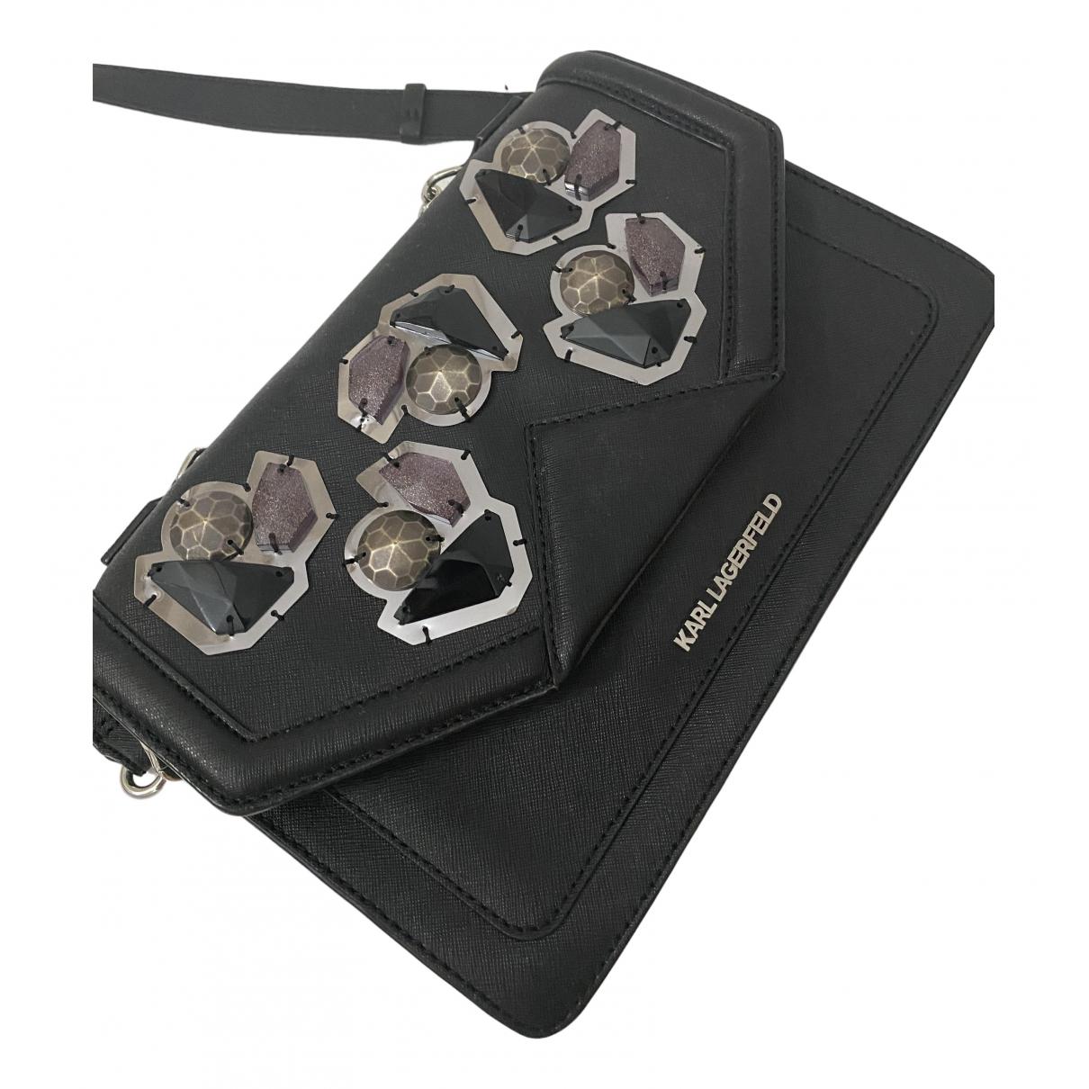 Karl Lagerfeld N Black Patent leather handbag for Women N