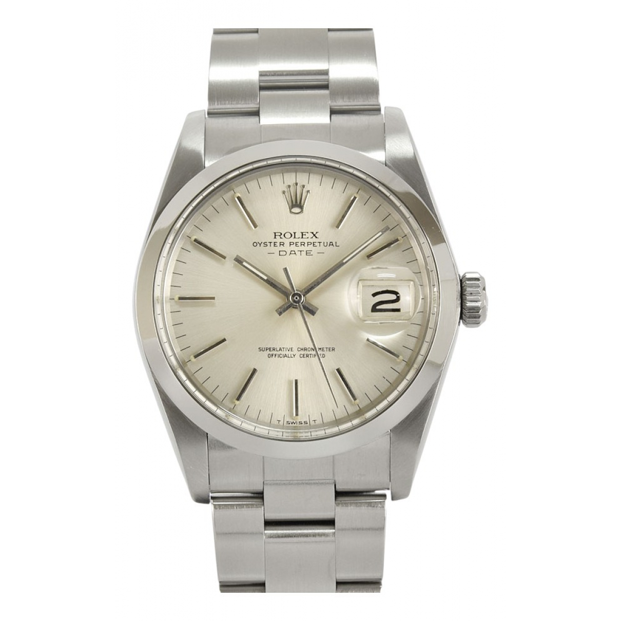 Rolex Oyster Perpetual 34mm Uhr in  Silber Stahl