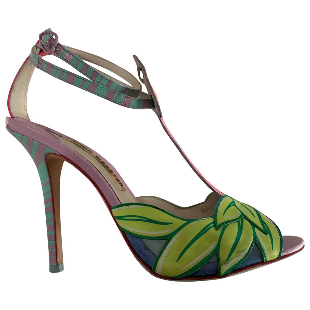 Sophia Webster - Escarpins   pour femme en cuir verni - multicolore
