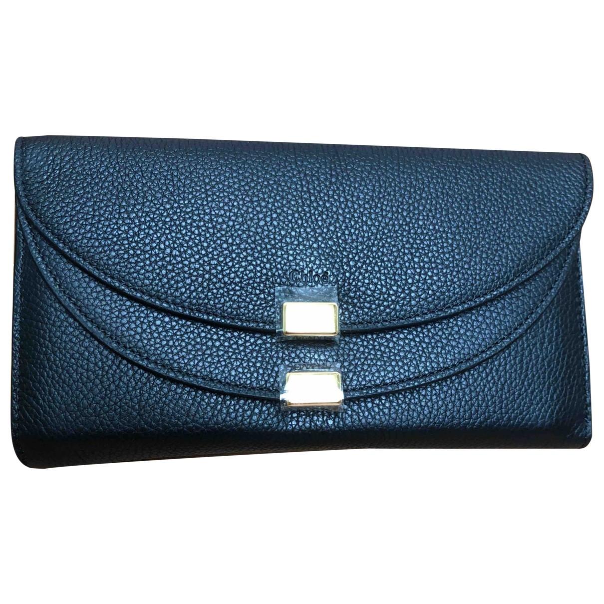 Chloé \N Black Leather wallet for Women \N