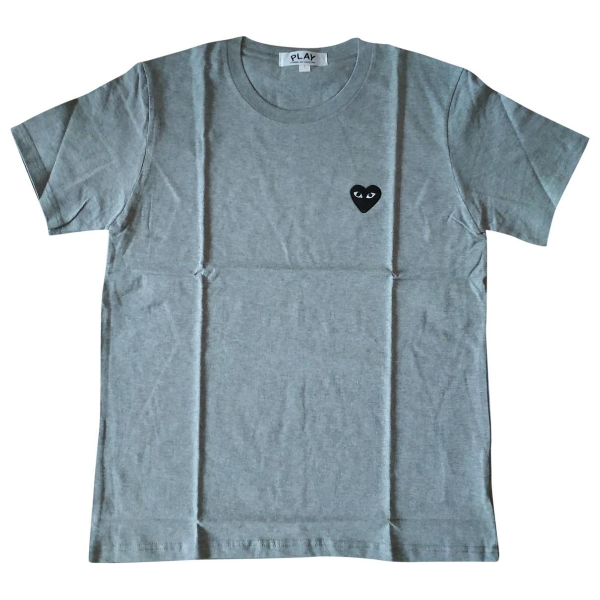 Play Comme Des Garçons \N Grey Cotton T-shirts for Men L International