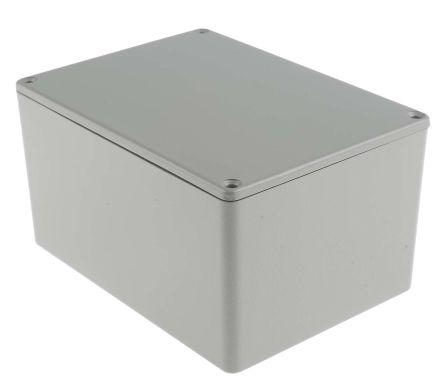 RS PRO Grey Die Cast Aluminium Enclosure, Shielded, 139.1 x 101.5 x 76.7mm