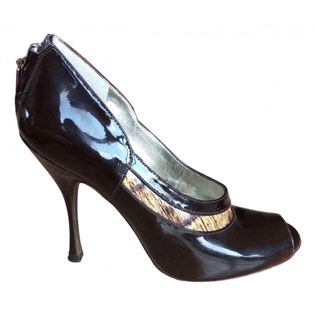 Dolce & Gabbana N Brown Patent leather Heels for Women 36.5 EU