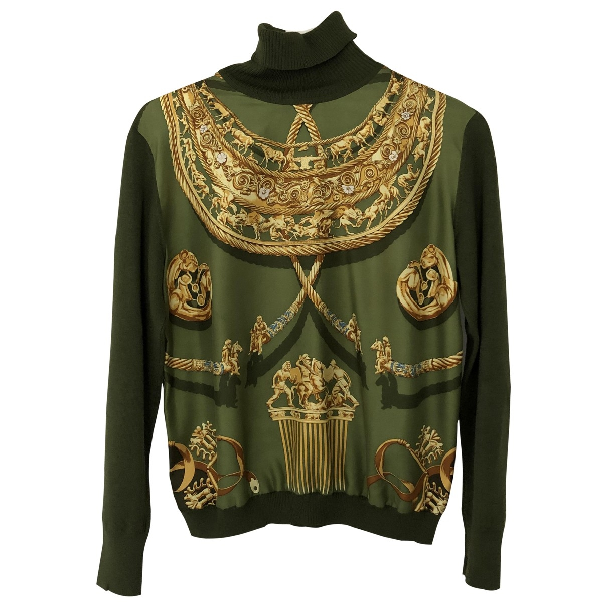Hermès \N Green Silk Knitwear for Women 44 IT