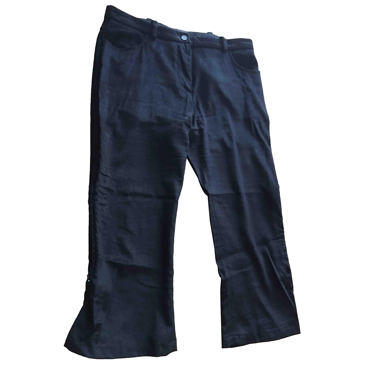 Armani Collezioni \N Black Trousers for Women 42 IT