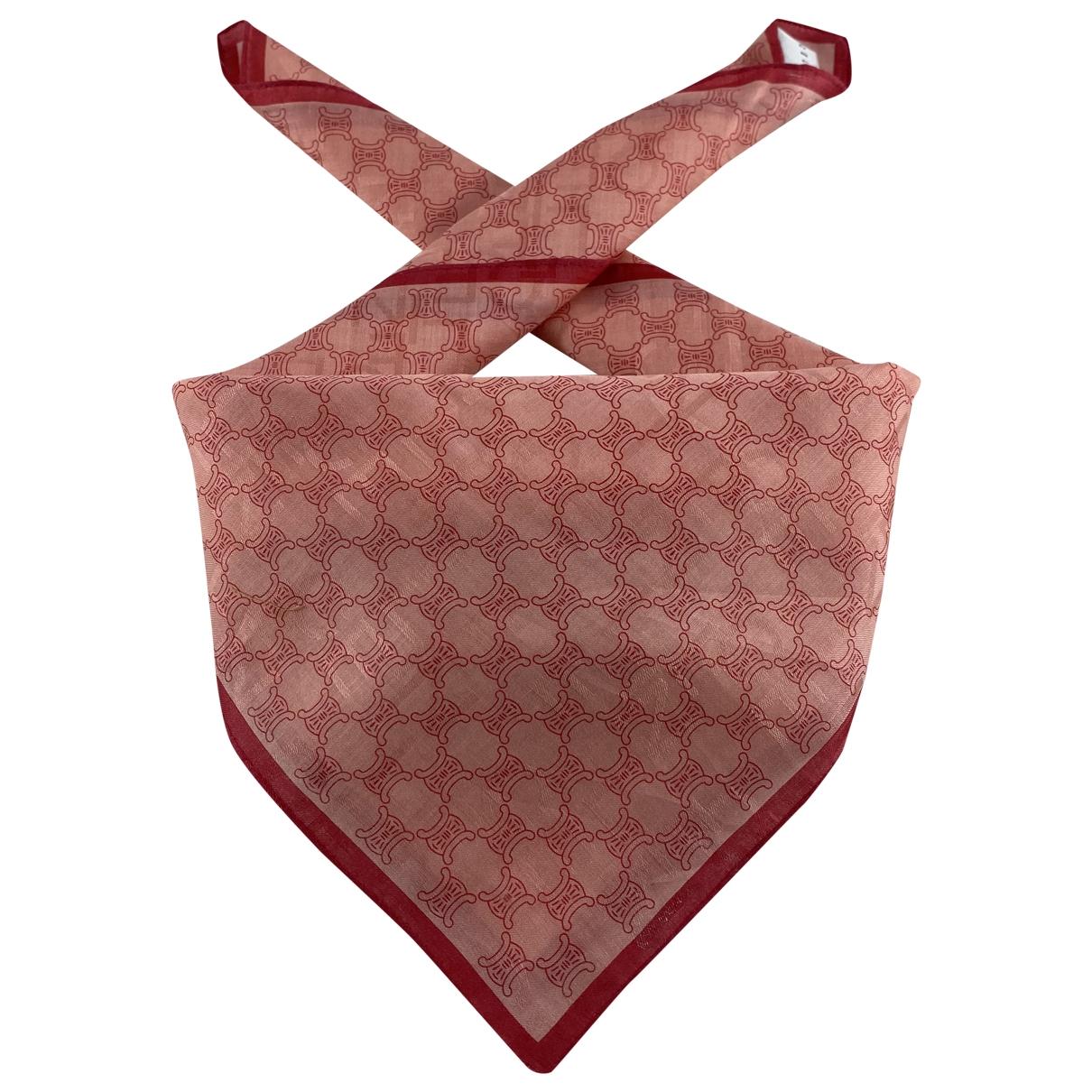 Celine - Foulard   pour femme en coton - rouge