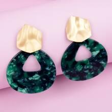 Acrylic Geo Drop Earrings