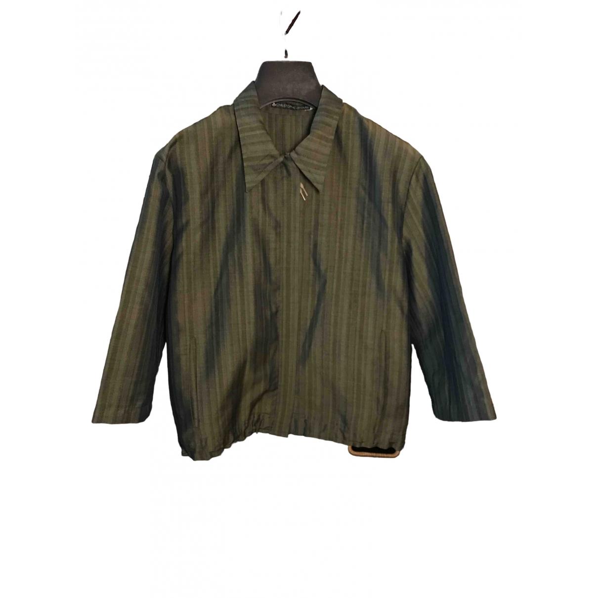 Lemaire - Veste   pour femme en laine - kaki
