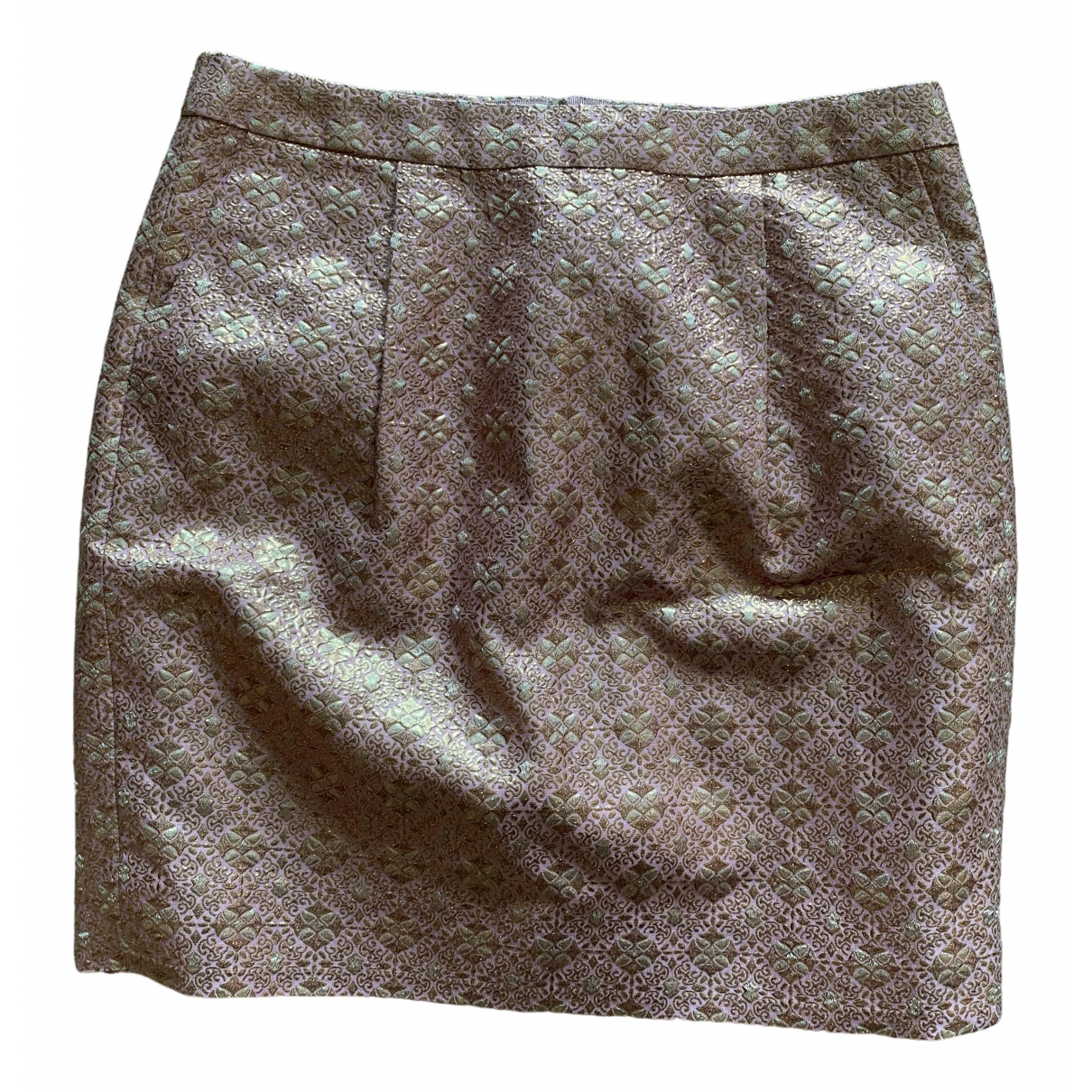 J.crew - Jupe   pour femme en a paillettes - metallise