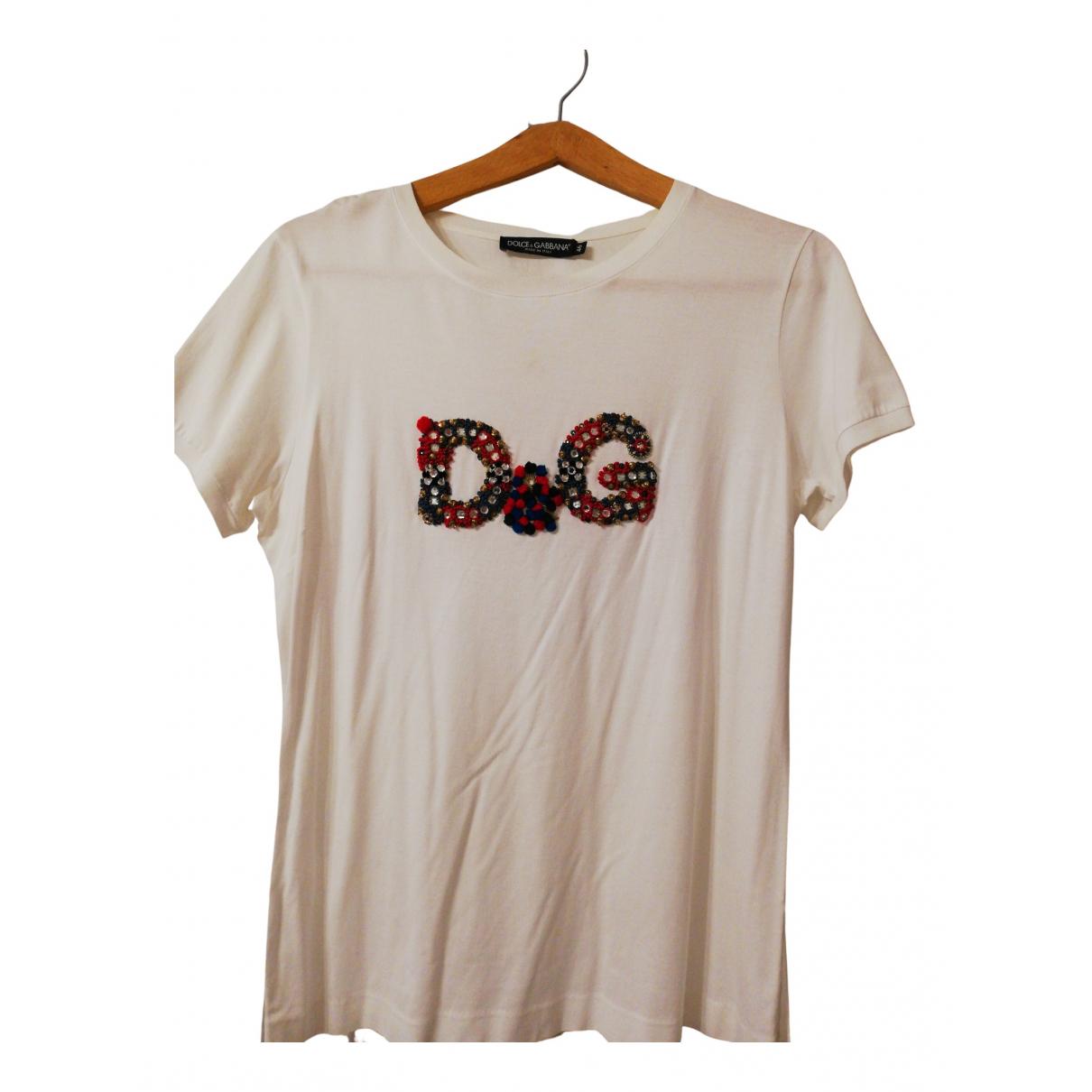 Dolce & Gabbana N White Cotton  top for Women 46 IT