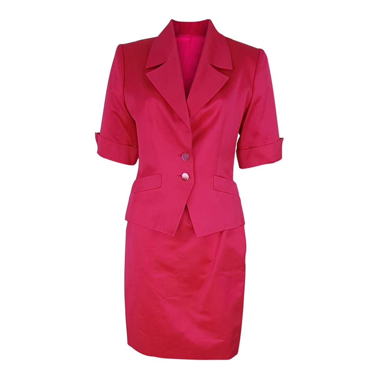 Celine \N Pink Cotton skirt for Women 40 IT