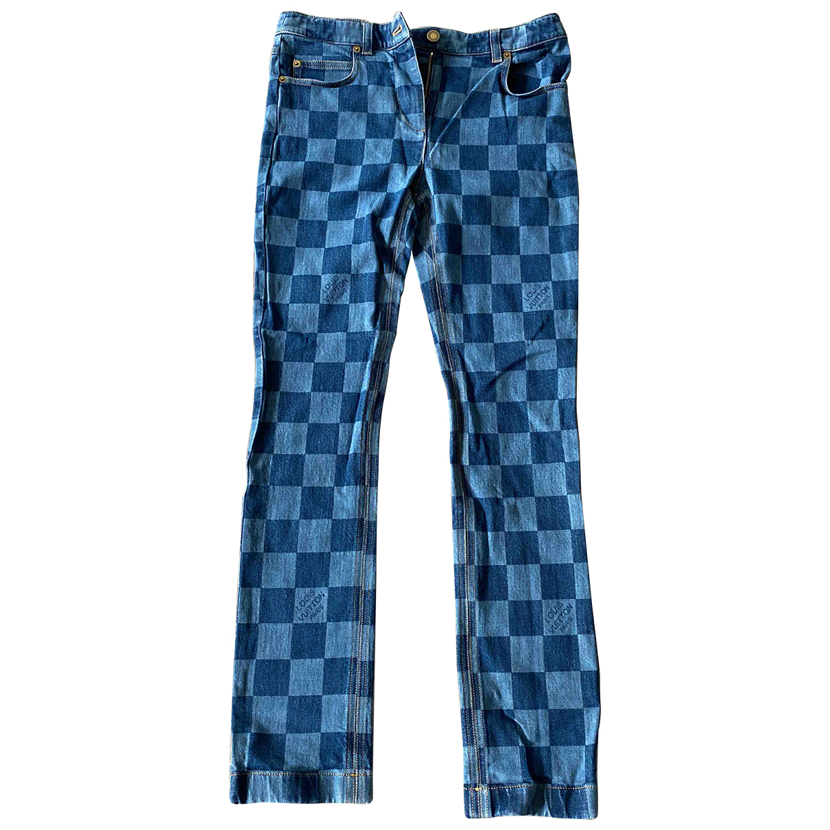 Louis Vuitton N Blue Cotton Jeans for Women 38 FR