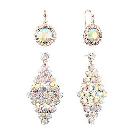 Monet Jewelry 2 Pair Jewelry Set, One Size , White