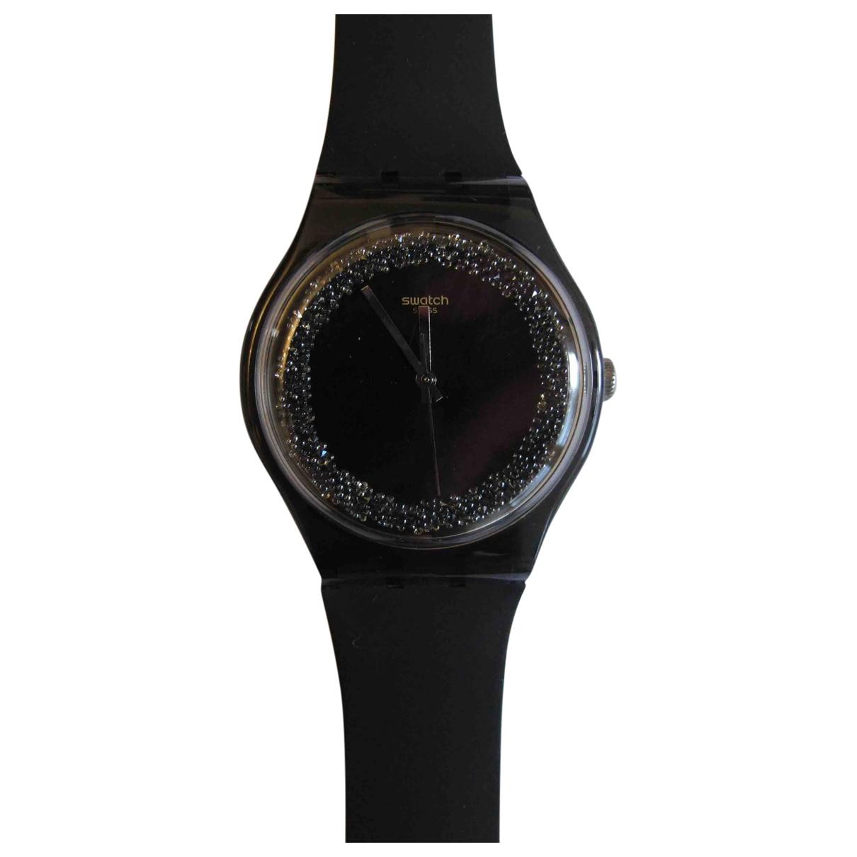 Swatch - Montre   pour femme en acier - noir