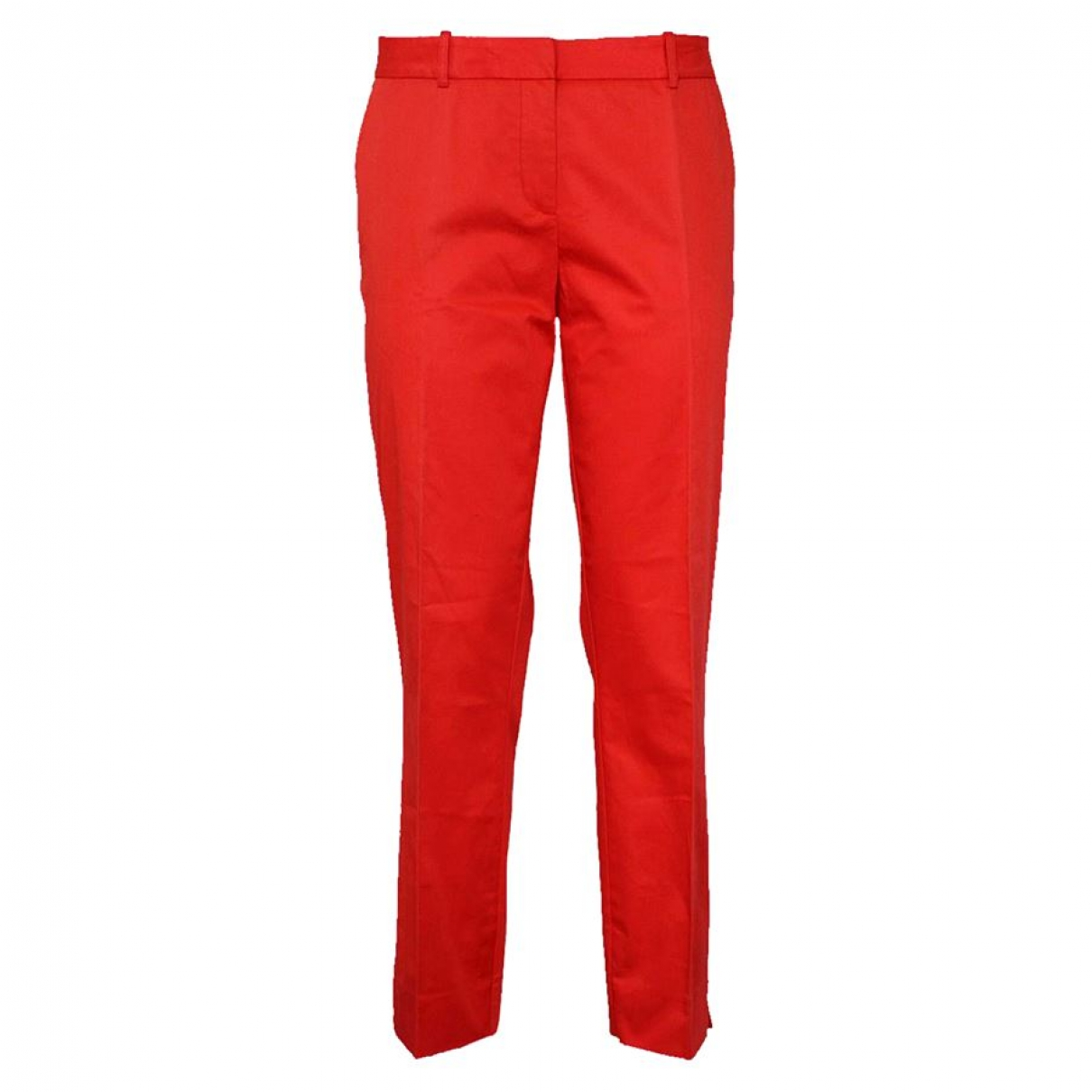 Blumarine \N Red Cotton Trousers for Women 46 IT