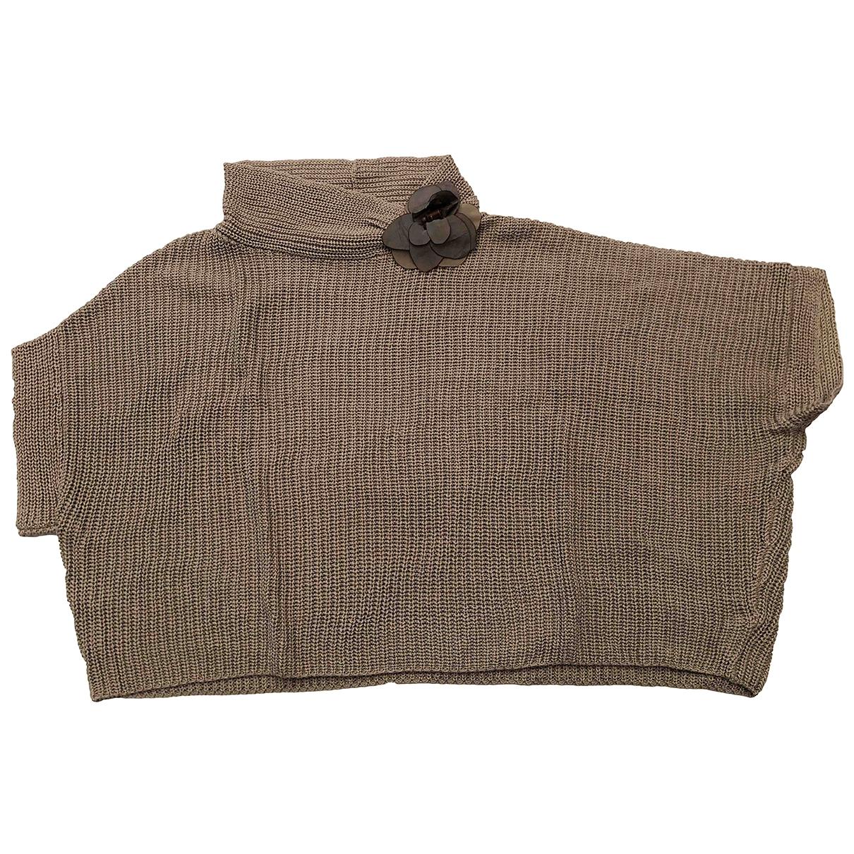 Brunello Cucinelli - Pull   pour femme en coton - gris