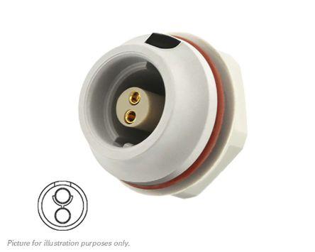 Souriau Circular Connector, 2 contacts Front Mount Socket, Crimp IP68