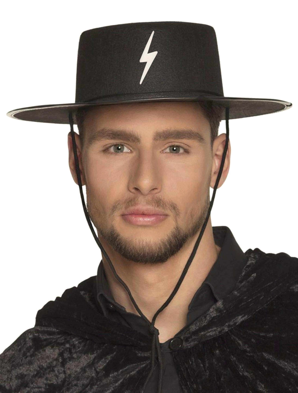 Kostuemzubehor Hut Bandit Erwachsene Farbe: schwarz