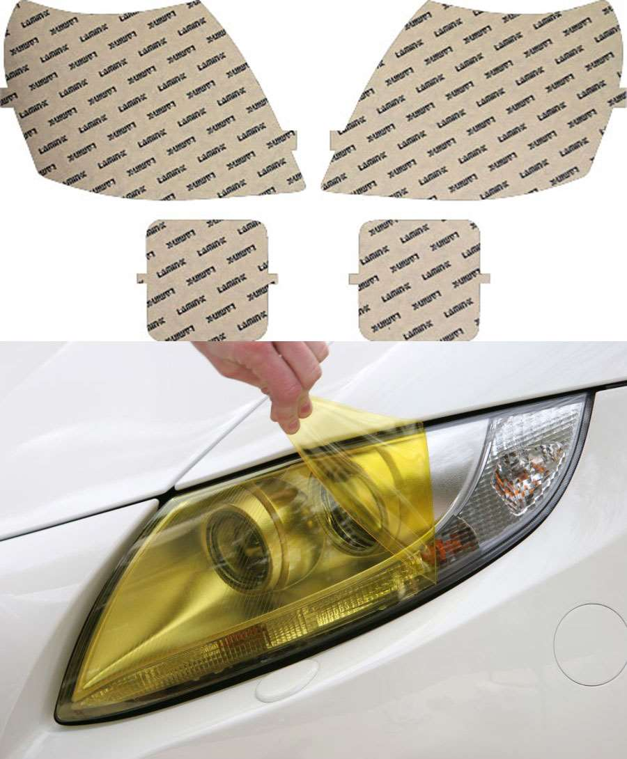 Cadillac CTS 02-07 Yellow Headlight Covers Lamin-X CD001Y