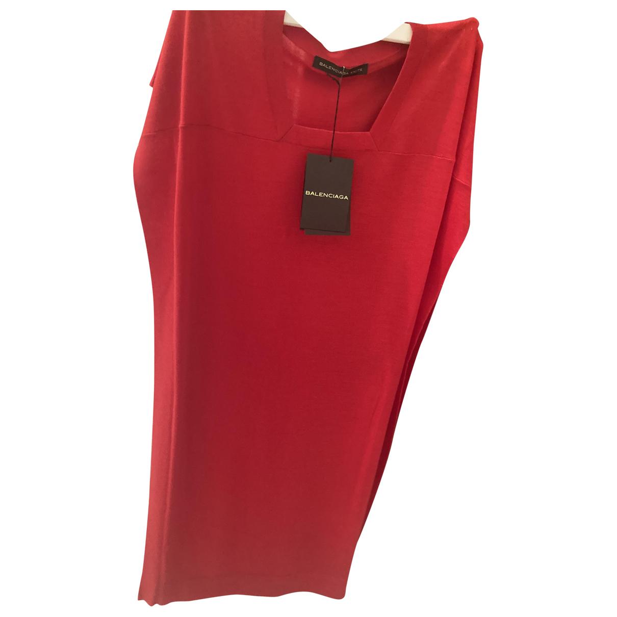 Balenciaga - Robe   pour femme en cachemire - rouge