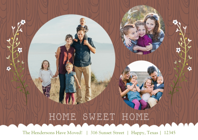 Moving 5x7 Cards, Premium Cardstock 120lb with Elegant Corners, Card & Stationery -Family Tree