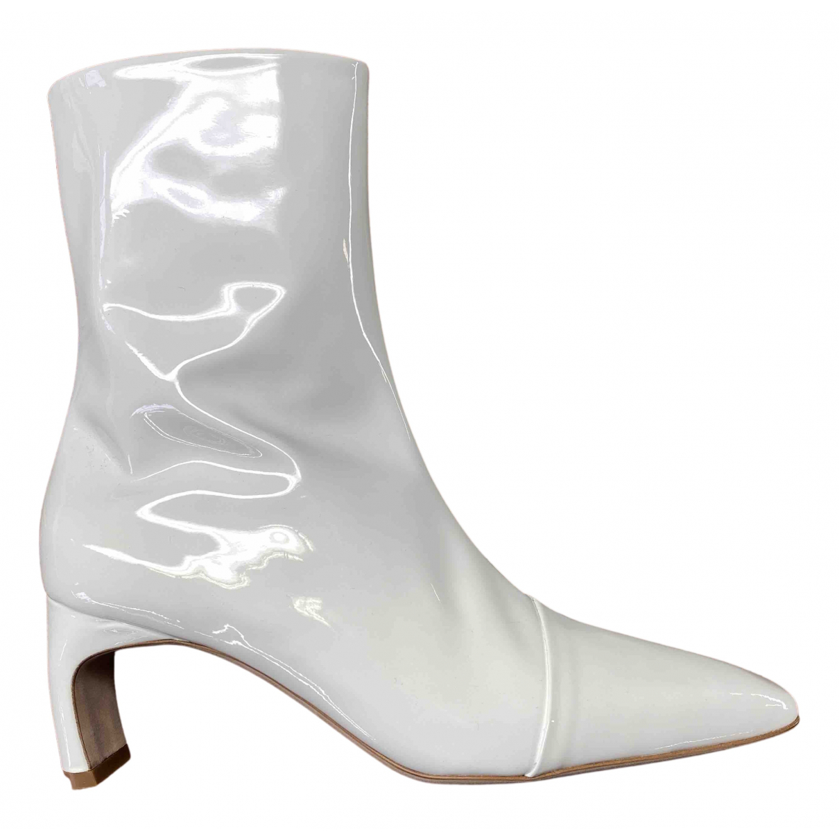 Rosetta Getty \N Stiefeletten in  Weiss Lackleder
