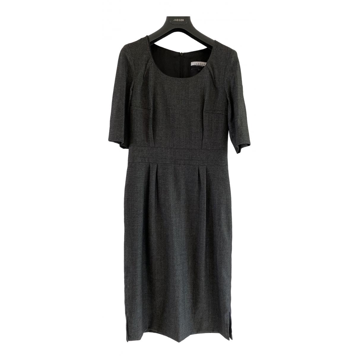 Jaeger - Robe   pour femme en laine - gris