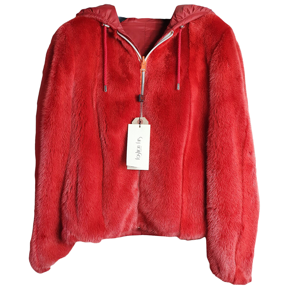 Non Signe / Unsigned \N Jacke in  Rot Nerz