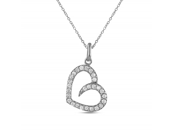 Charmsy Sterling Silver Heart Necklace
