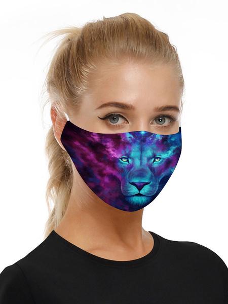 Milanoo Disfraz Halloween Accesorios para disfraces Mascara Lion Print Halloween