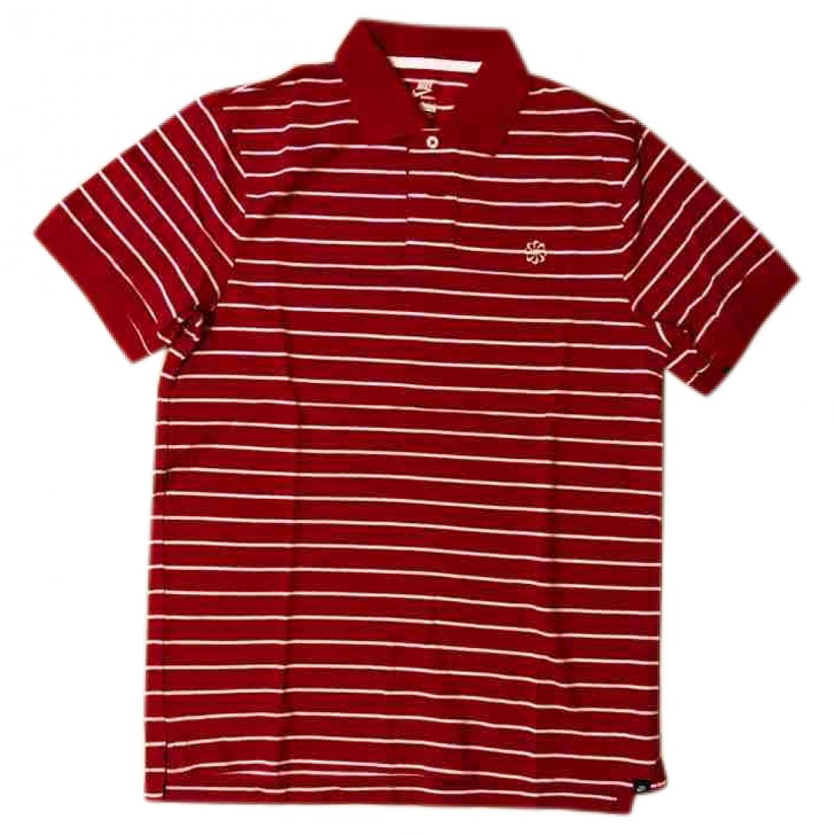 Nike - Polos   pour homme en coton - rouge
