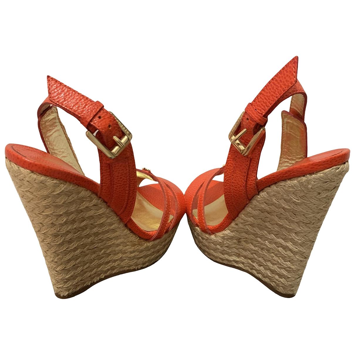 Dsquared2 - Espadrilles   pour femme en cuir - rouge
