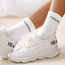 Buchstaben Muster Socken 1 Paar