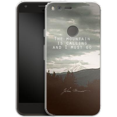 Google Pixel Silikon Handyhuelle - The Mountain Is Calling von Leah Flores