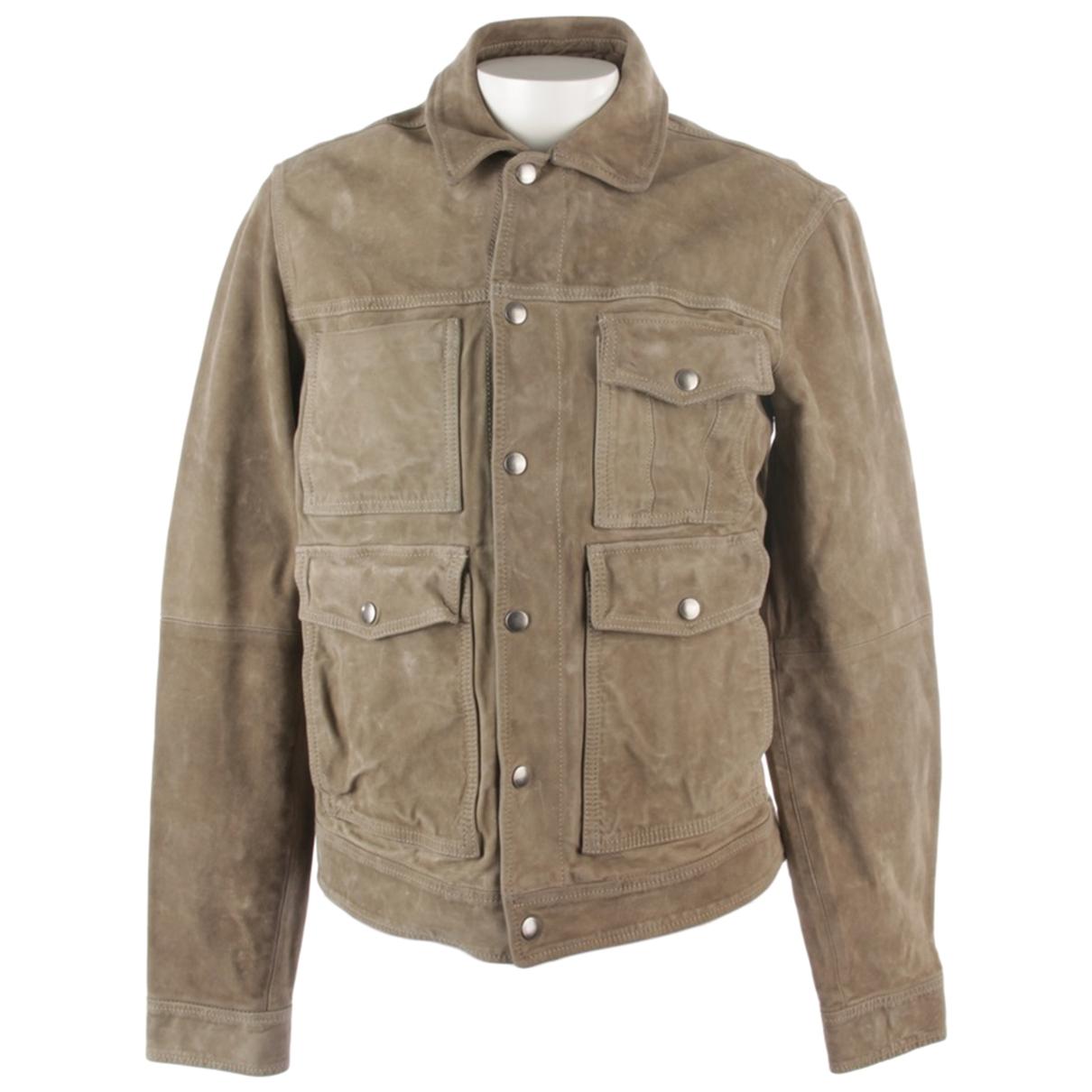 Deus Ex Machina \N Grey Leather jacket for Women 48 FR