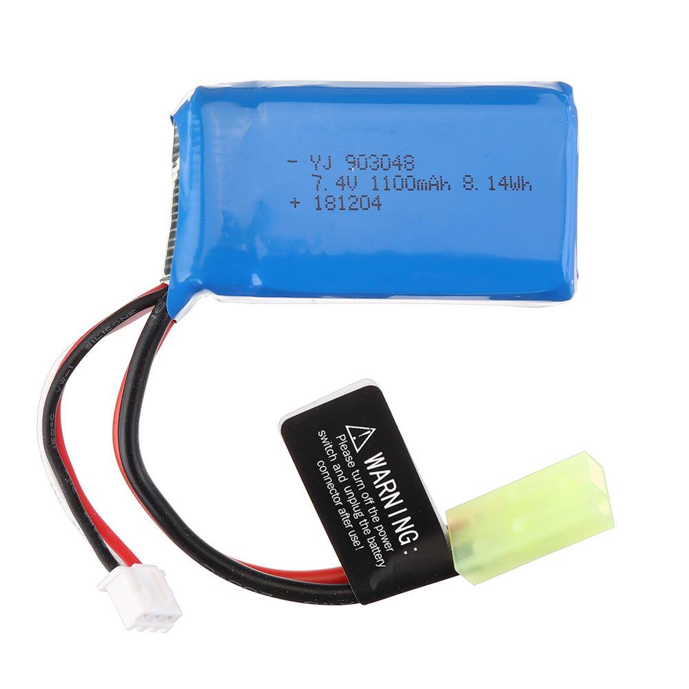 PXtoys 7.4V 1100mAh 25C 2S Li-ion Battery Odakiya Plug for 9300/9301/9302/9303/9303-1 1/18 Rc Car Parts PX9300-32
