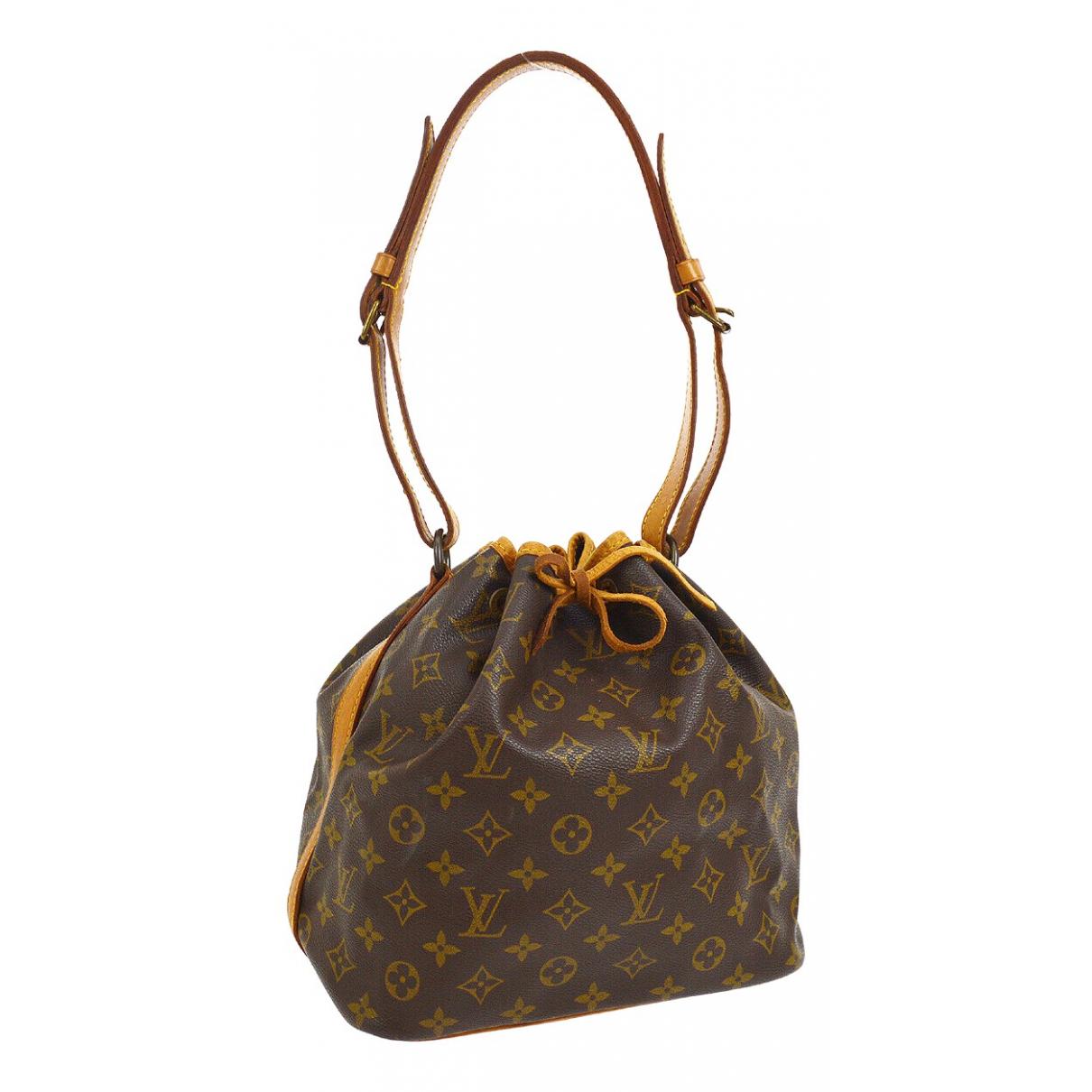 Louis Vuitton Noe Handtasche in  Braun Leinen