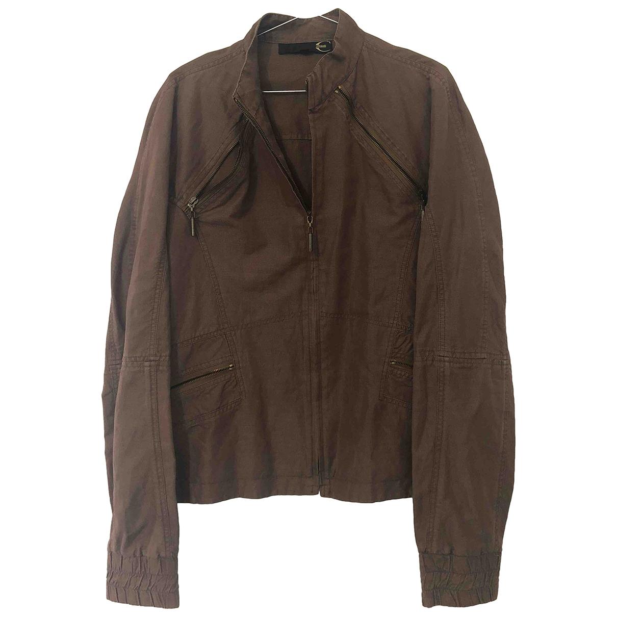 Just Cavalli - Veste   pour femme en coton - marron