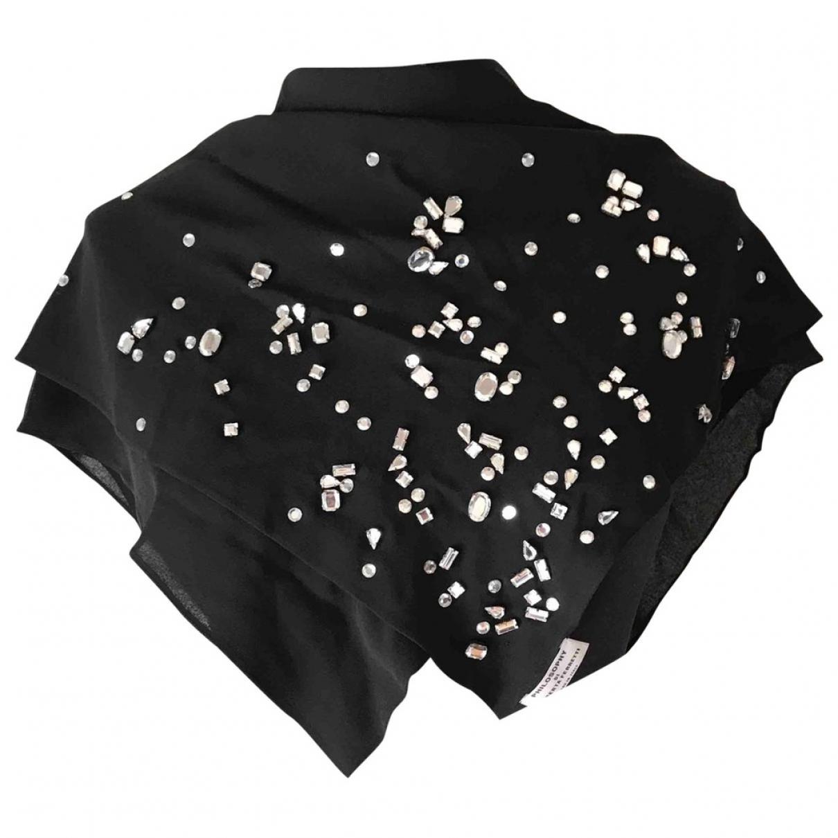 Philosophy Di Alberta Ferretti \N Black Silk scarf for Women \N
