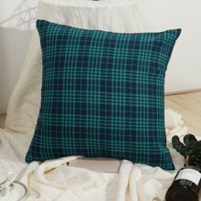 Plaid Pattern Cushion Cover Without Filler