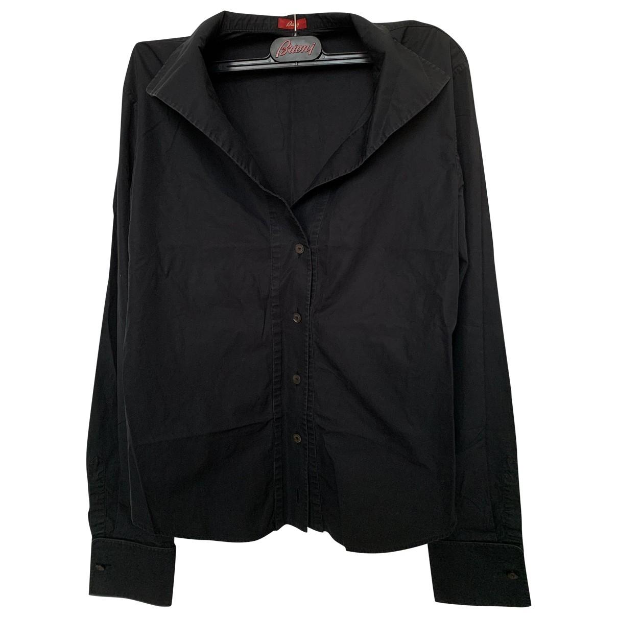 Brioni - Top   pour femme en coton - noir