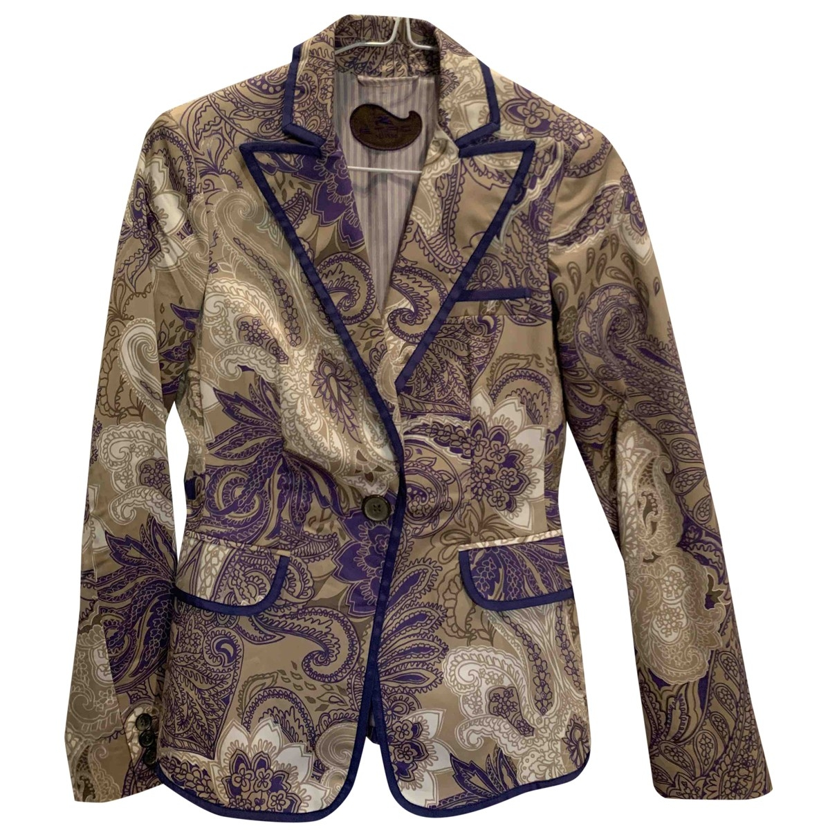 Etro \N Blue Cotton jacket for Women 40 IT